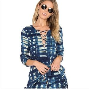CHASER / BOHO TIE FRONT LONG SLEEVE TOP